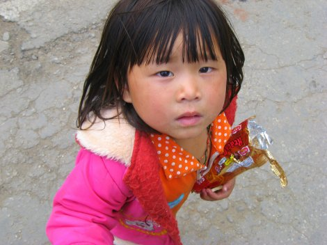 Out of nowhere she took my hand and led me down the street, Bhutan