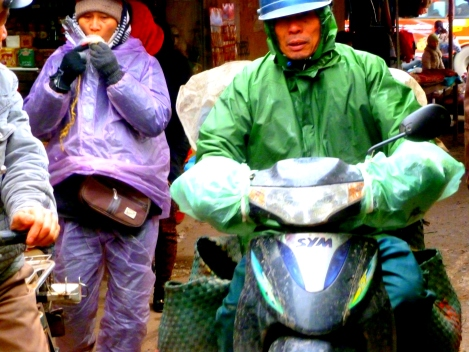 Roadside market, Hanoi to Tho Ha village